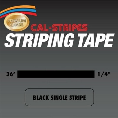 Cal-Stripes® Black Single Pinstriping Tape 1/4