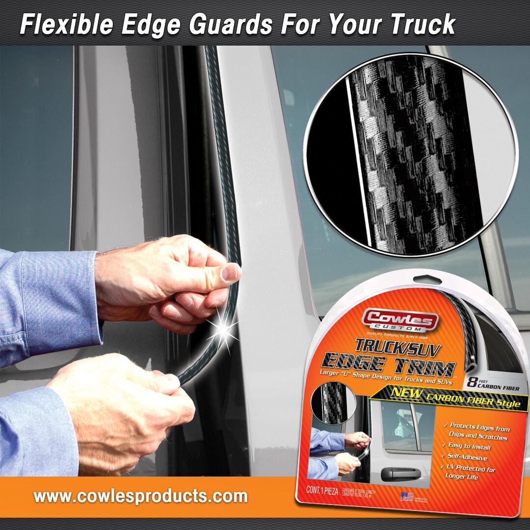 Cowles® S37202 Carbon Fiber Style Truck Edge Trim 8'