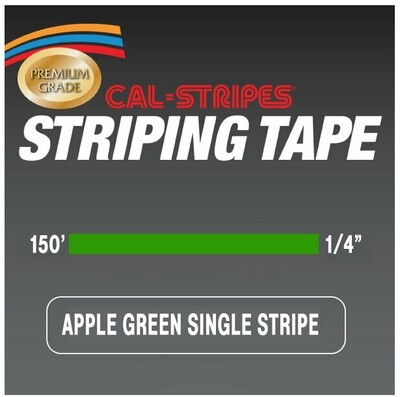 Cal-Stripes® Apple Green Single Pinstriping Tape 1/4