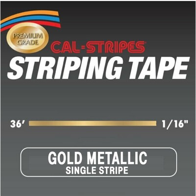 Gold Metallic Single Stripe 1/16
