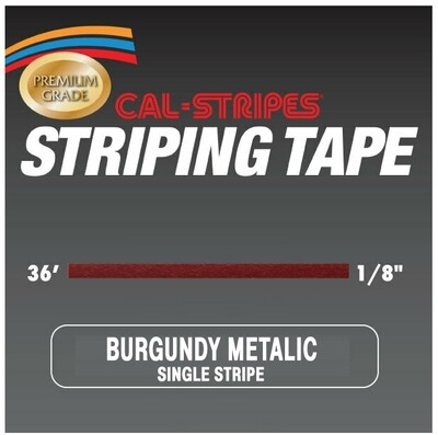 Cal-Stripes® Burgundy Metallic Single Pinstriping Tape 1/8