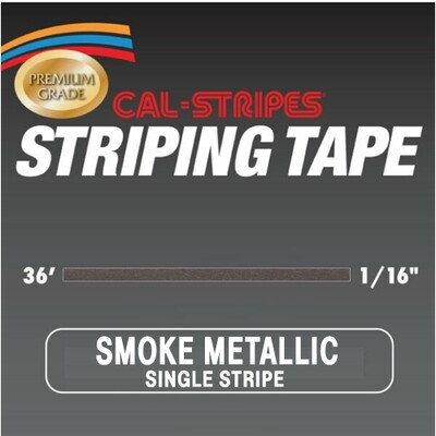 Cal-Stripes® Smoke Metallic Single Pinstriping Tape- 1/16