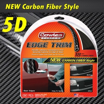 Cowles®T5603 Carbon Fiber Style Door Edge Guard 18'