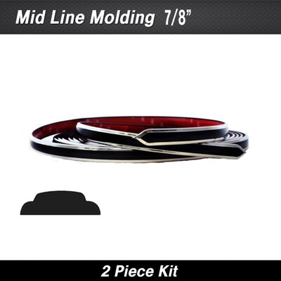 Cowles® 25-780-01 Black Mid Line w/ Ends 7/8