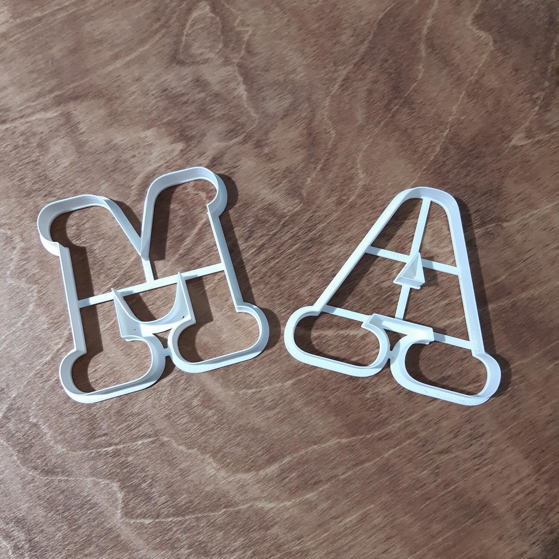"""Набор форм для пряников """"Буквы М и А"""" 8 см"""
