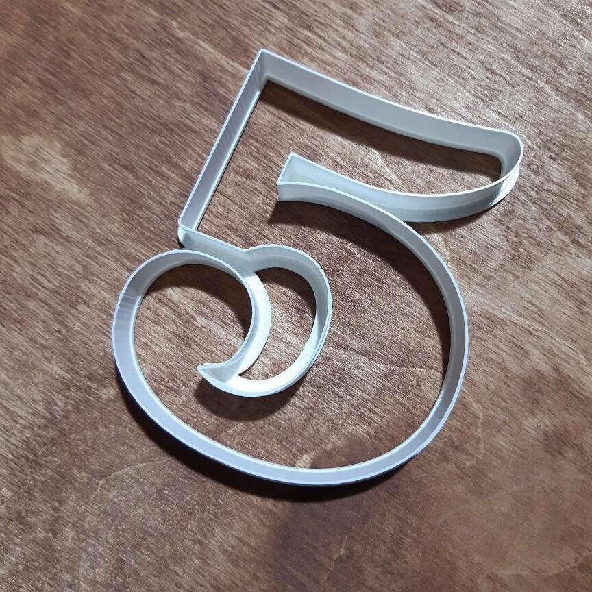 "Форма для пряника ""5"" Clarendon 10 см"