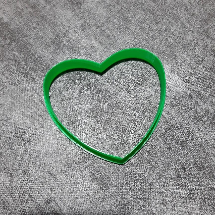 """Форма для пряника """"Сердце №3"""" (9х8 см)"""