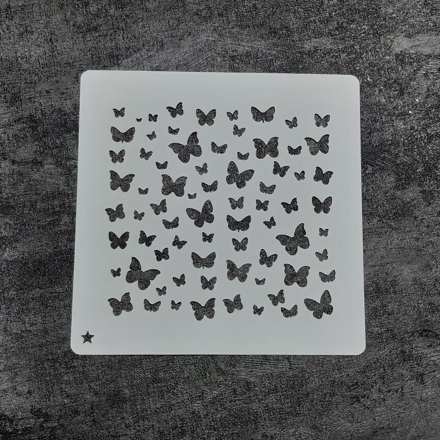 Трафарет Бабочки №1 (14 см)