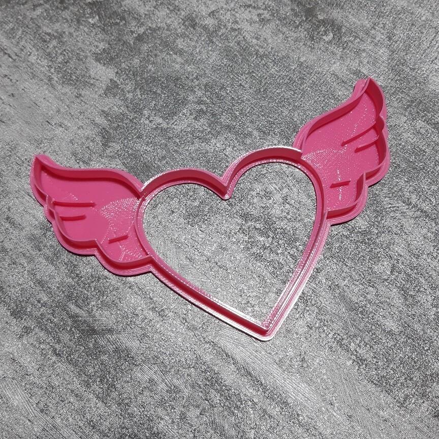 """Форма для пряника """"Сердце с крыльями"""" 13х8 см"""