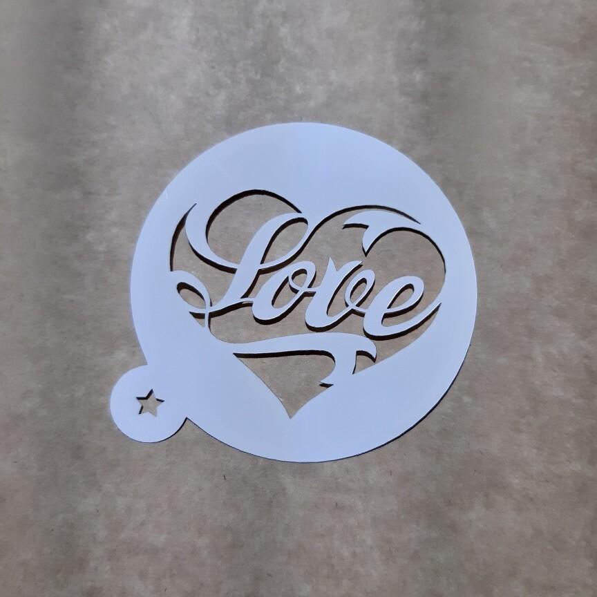 "Трафарет ""Love №1"" 9 см"