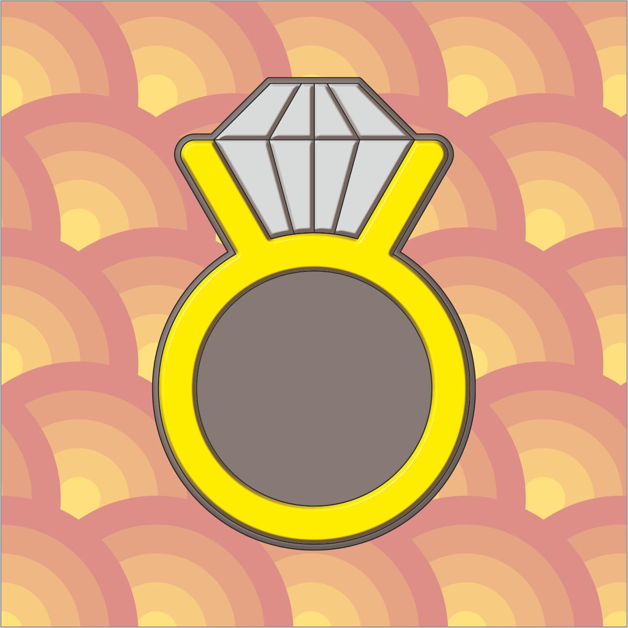 """Форма для пряников """"Кольцо №1"""" (5,5х8 см)"""