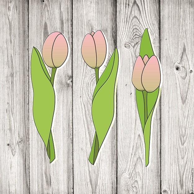 """Набор форм для пряников """"Тюльпаны"""" 18 см"""