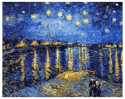 Картина по номерам G 323 Звездная ночь (Ван Гог) 40*50