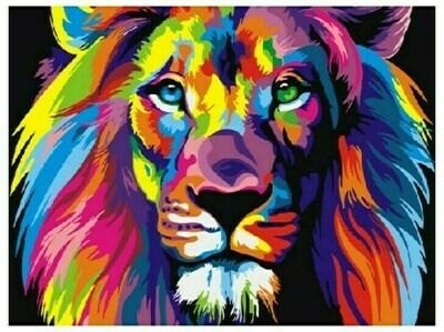 Картина по номерам GX 8999 Радужный лев 40*50
