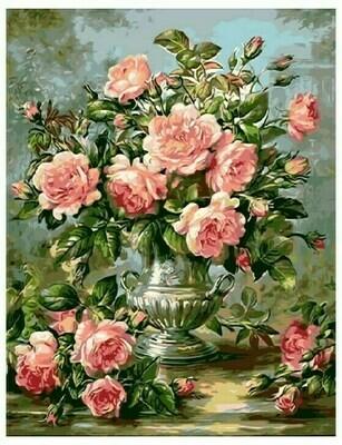 Картина по номерам GX 9447 Античная ваза с розами (Худ. Альберт Вильямс) 40*50