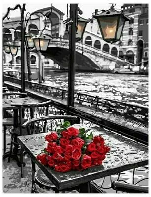 Картина по номерам GX 9754 Розы под дождем 40*50