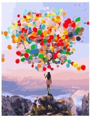 Картина по номерам PK 16018 (GX 25742) Разноцветные шары 40*50 Эксклюзив