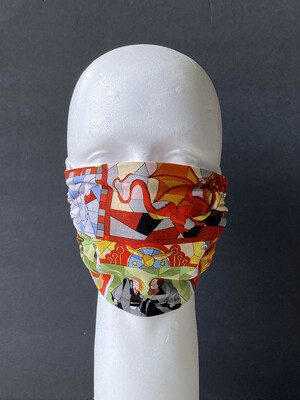 READY TO SHIP Harry Potter Stained Glass Adjustable Reusable Cloth Face Covering