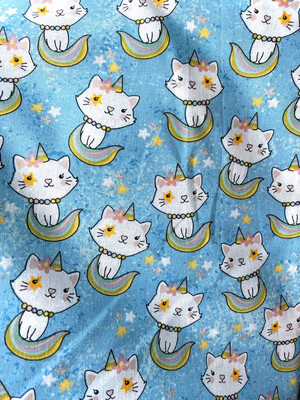 READY TO SHIP Unicorn Kitty Adjustable Reusable Cloth Face Covering