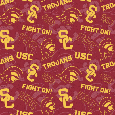 College University of Southern California Trojans Adjustable Reusable Cloth Face Mask