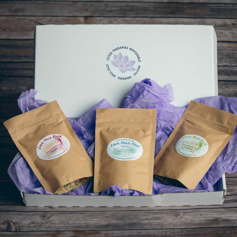 Letter box Friendly Vegan Bath Soak Gift Box