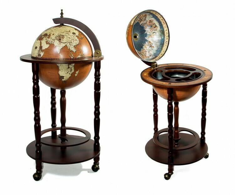 33001NM Глобус бар, диаметр сферы - 33см, высота глобуса в собранном виде - 85 см.