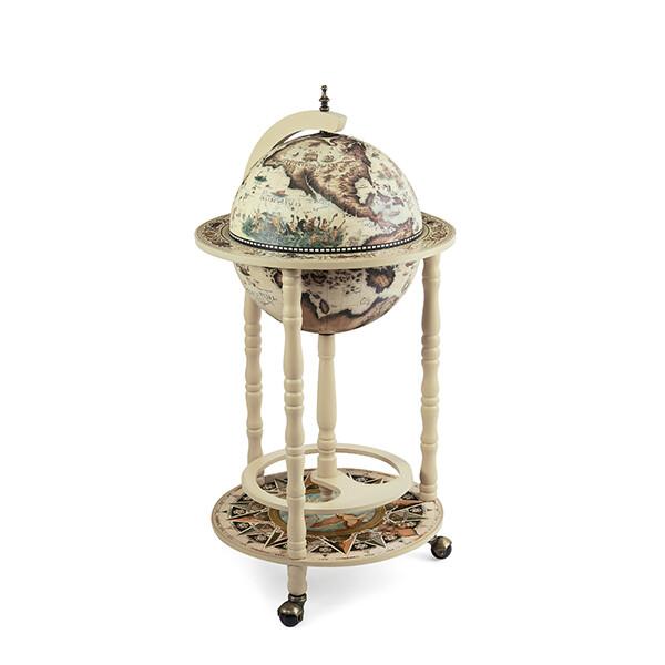33001W Глобус-бар,диаметр шара - 33 см, высота глобуса в собранном виде - 85 см.