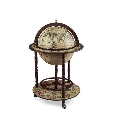 42001N Глобус-бар,диаметр сферы - 42 см, высота глобуса в собранном виде - 95 см.