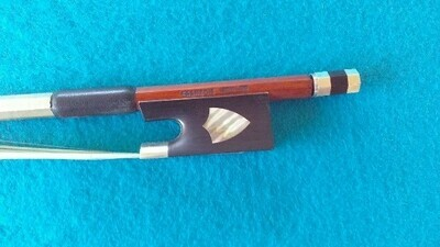 Francois Mouton Pearl Inlay Silver Mounted Violin Bow