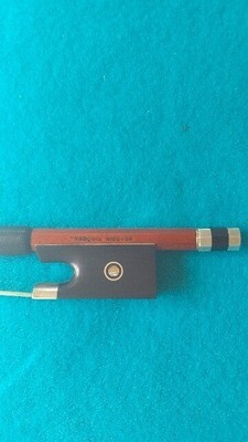 Francois Mouton French Parisian Eye Silver Mounted Violin Bow 2000's Medium Red Brown