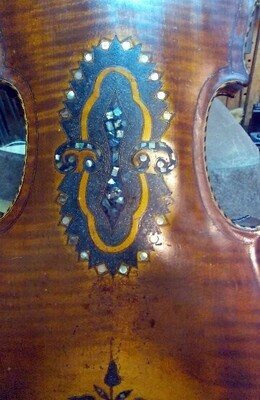 Antique Violin late 1800s - 1900s - Beautiful Inlayed Instrument