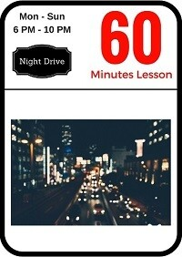 Night driving lesson 60 minutes