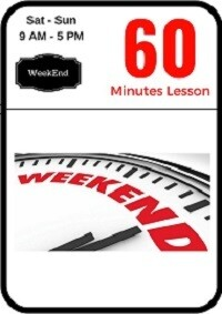Weekend driving lesson 60 minutes