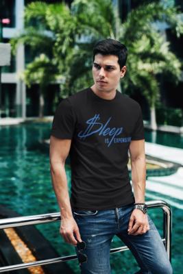 Sleep Is Expen$ive V2 (Blue Text) Short-Sleeve Unisex T-Shirt