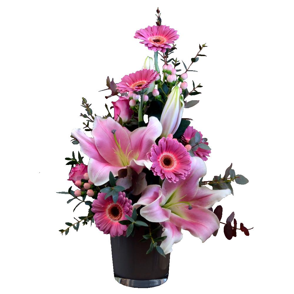 Ružová kytica s voňavou ľaliou
