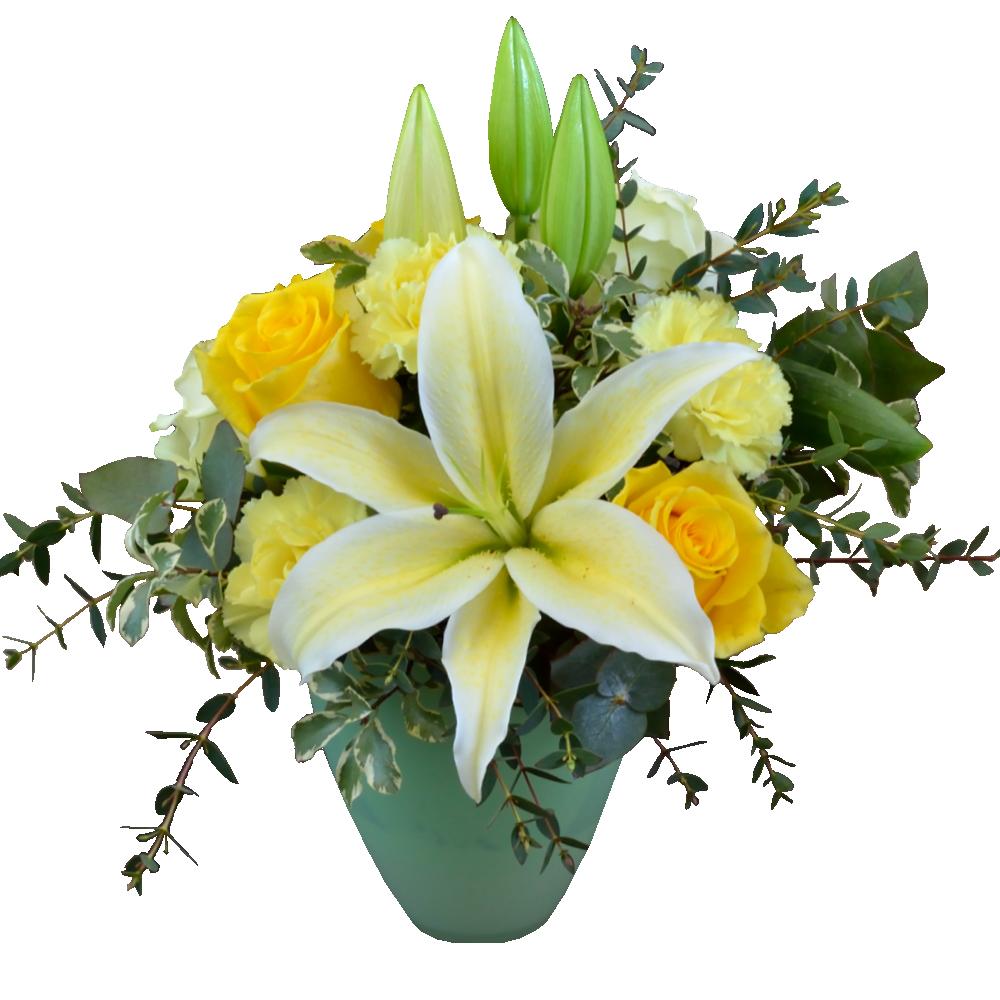 Krémovo biela kytica s ľaliami