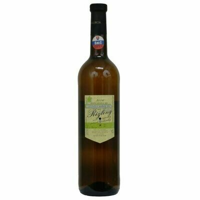 Fľaša bieleho vína (Rizling)