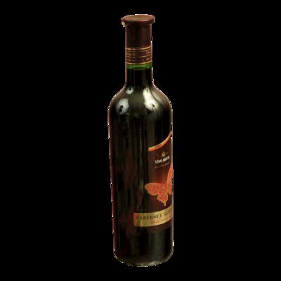 Fľaša červeného vína Cabernet Sauvignon