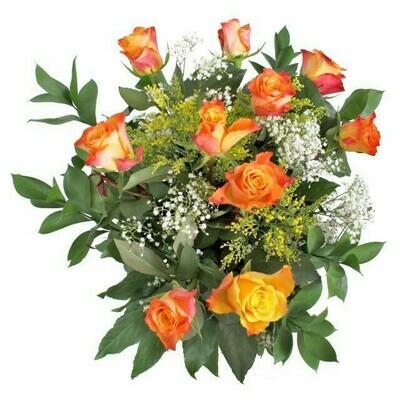 Kytica oranžových ruží