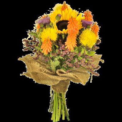 Poľné kvety so slnečnicou