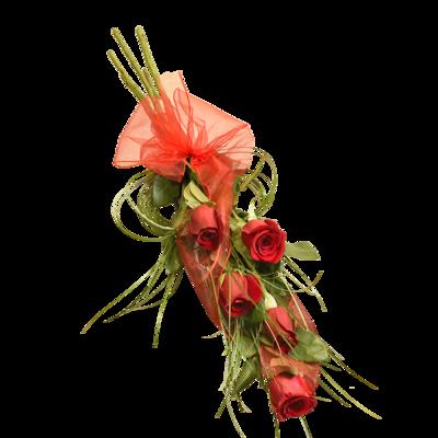 5 červených ruží ako vyznanie