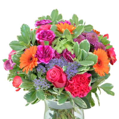 Letná kytica z farebných kvetov