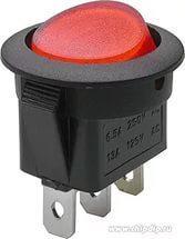 Выключатель круглый одноклавишный 20/22 мм (6,5А 250В).