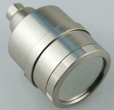 Brushed Nickel Shower Head with 11 Stage Filter, Eliminates Chlorine