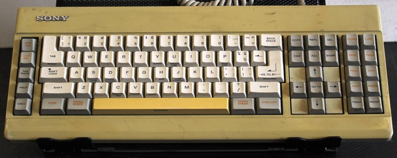 Sony Word Processing Keyboard