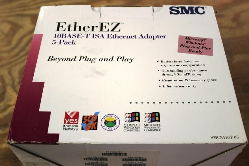 SMC EtherEZ ISA Ethernet Cards, NIB