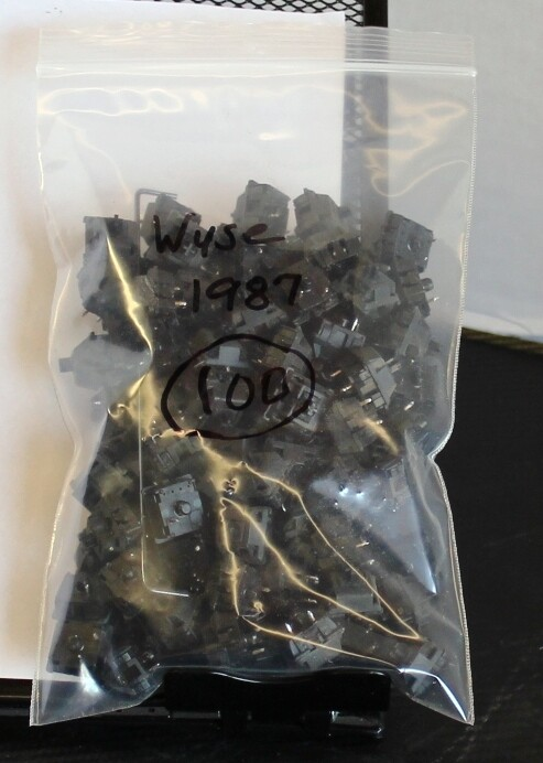 Cherry MX Black Switches from 1987, Bag of 98
