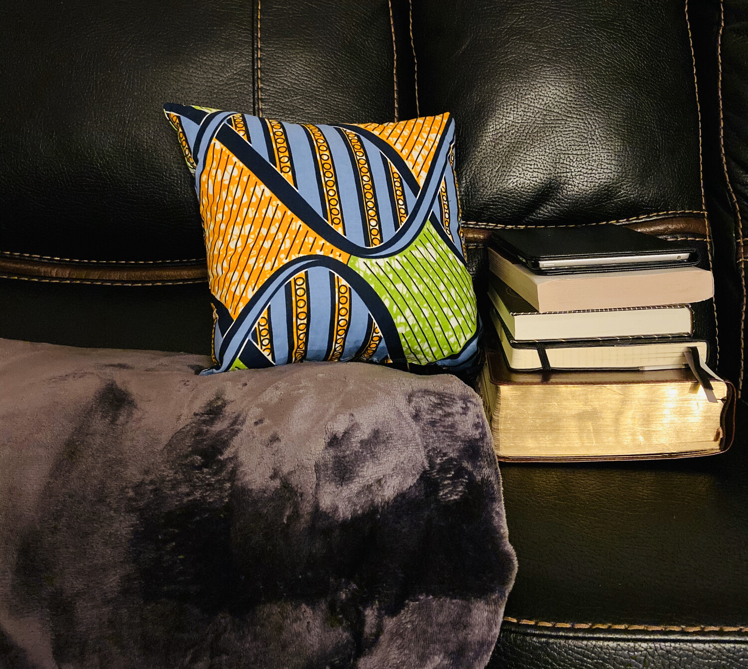 Geni African Print  Throw Pillow