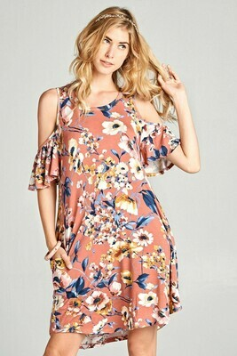 plus size floral print dress