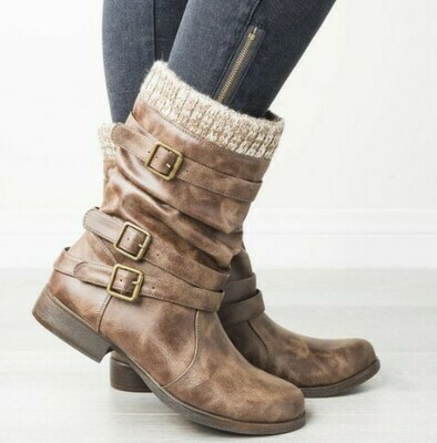 THREE BUCKLES LONG BOOTS